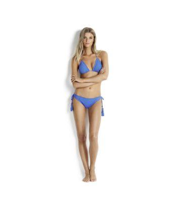 Bikinihose Gypsy Summer Tie Side Brazilian mit geschnürten Seitenpartien 40385 SEAFOLLY French Blue