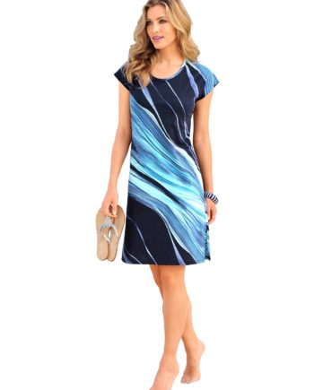 arabella Damen Sommerkleid blau