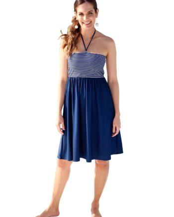 feel good Damen Sommerkleid blau Gr. 36/38
