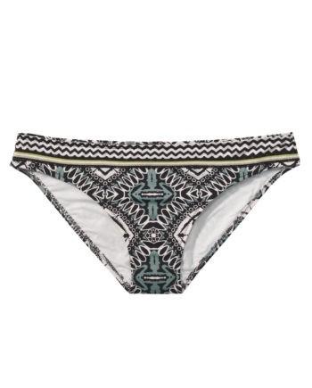 Bikini-Hose BAMBOLA schwarz/weiß/mint