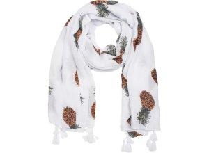 styleBREAKER Schal unifarben mit Ananas Print und Quasten, Tuch, Stola, Pareo, Damen 01016163