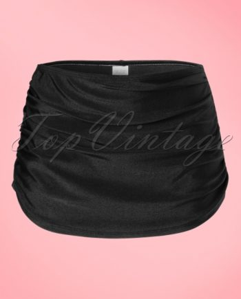 50s Classic Bikini Pants in Solid Black