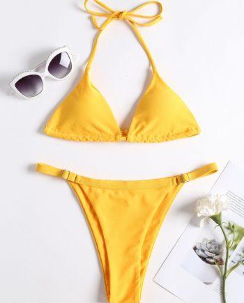 Adjustable String Thong Bikini