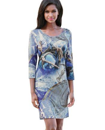Alba Moda Strandkleid mit maritimen Motiven