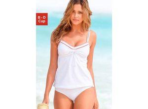 Beachwear Bügel-Tankini mit Häkelkante, weiß, S.OLIVER RED LABEL, Damen, Material: Polyamid, Elasthan