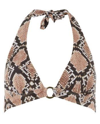 *DP Beach Black Snake Print Bikini Top