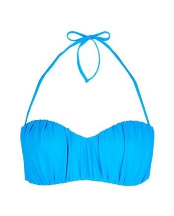 *DP Beach Blue Ruched Bikini Top