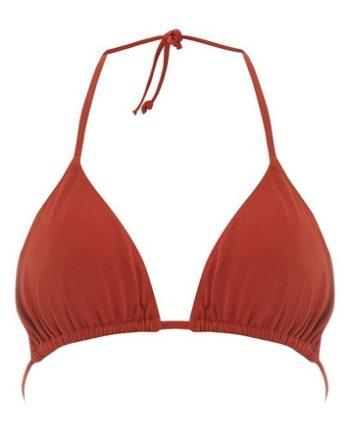 *DP Beach Rust Triangle Bikini Top