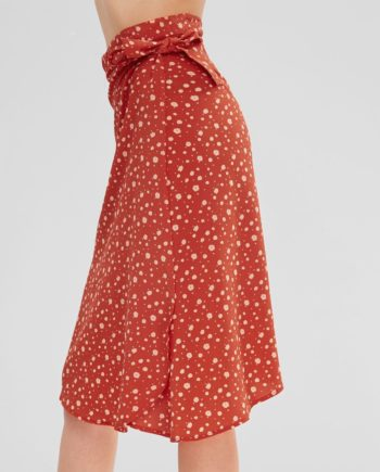 Floral Print Midi Pareo Wrap Skirt