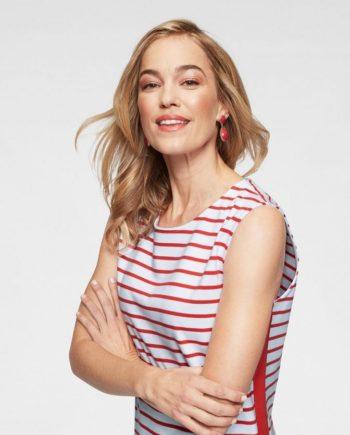 NAVIGAZIONE Sommerkleid Modisches Shirt-Kleid im Streifen-Look, luftig geschnitten