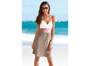 Strandkleid mit Color-Blocking, grün, BEACHTIME, Damen, Material: Viskose