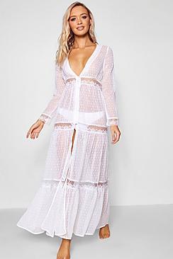 - Strandkleid mit Spitze Boho-Stil