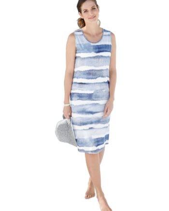 WITT WEIDEN Damen Sommerkleid blau Gr. 46