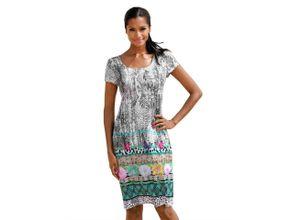 Alba Moda Strandkleid im attraktiven Printmix, grau