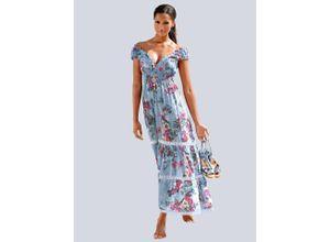 Alba Moda Strandkleid in Maxilänge, blau