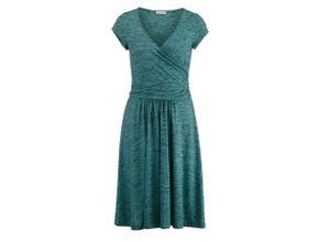 Alba Moda Strandkleid in Melange-Optik, grün