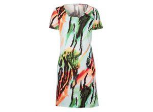 Alba Moda Strandkleid mit Aquarelldruck, bunt