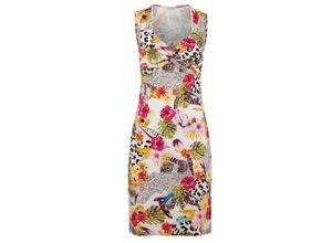 Alba Moda Strandkleid mit Knotenoptik, gelb