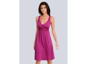 Alba Moda Strandkleid mit Spitzeneinsatz, rosa