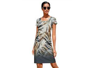 Alba Moda Strandkleid mit Ziernieten, braun