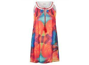 Alba Moda Strandkleid mit dekorativem Halsausschnitt, bunt