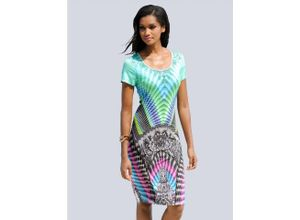 Alba Moda Strandkleid mit grafischen Druck, grün