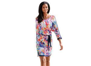 Alba Moda Strandkleid mit paradiesischem Blumendruck, bunt