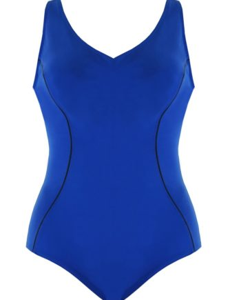 Badeanzug mit Unterbrustband''Revolutional'' | blau