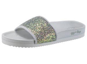 Flip Flop Pantolette mit Glitter, grau