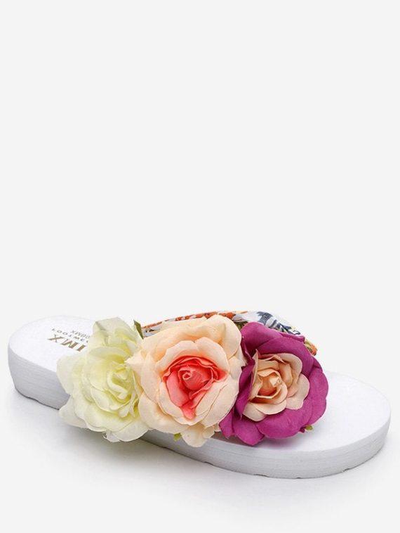 Flower Decor Flip Flop