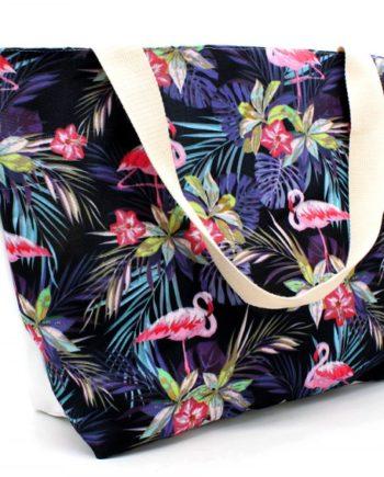 Henkeltasche Strandtasche Flamingo Print