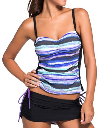 Padded Colorful Tankini Set