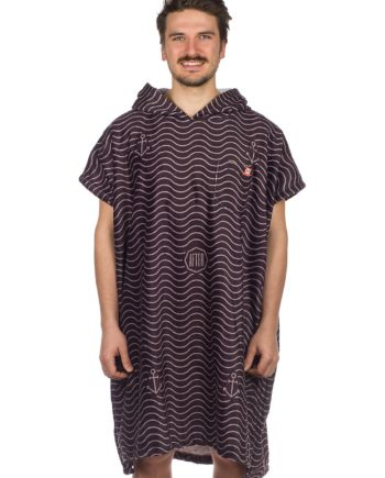 After Waves Surf Poncho schwarz