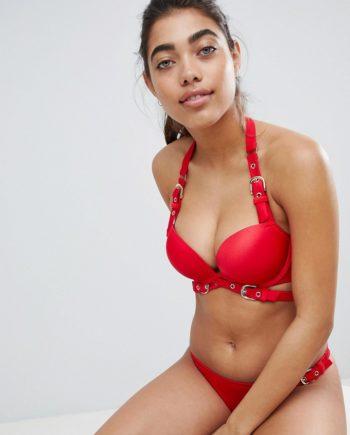 Ann Summers - Eleko Triple Boost - Bikini-Oberteil - Rot