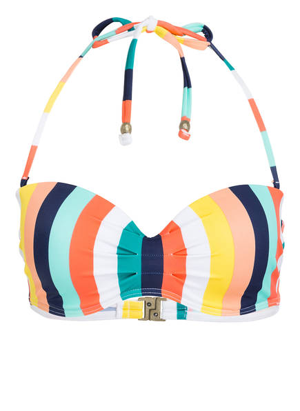 Beachlife Bandeau-Bikini-Top Candy Stripe gelb