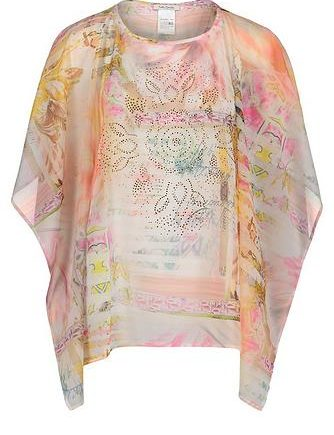 Betty Barclay Sommer Poncho mit Blumenprint