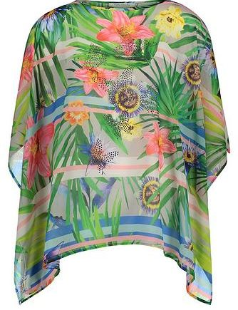 Betty Barclay Sommer-Poncho mit Blumenprint