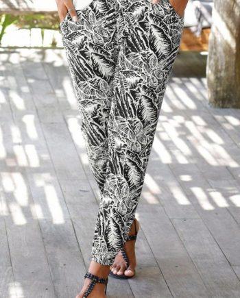Buffalo London Strandhose mit Blätterdruck