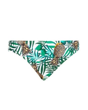 *DP Beach Pineapple Print Low Rise Bikini Bottoms