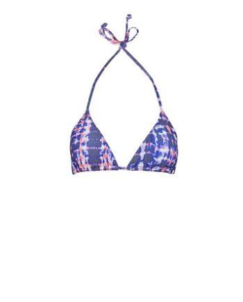 *DP Beach Purple Tie Die Triangle Bikini Bottoms
