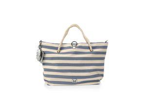 Damen Strandtasche Sansibar natur/blau