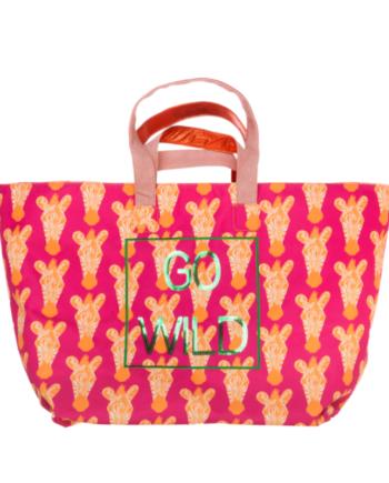 Die Cute Stuff Strandtasche in Pink''Go Wild''