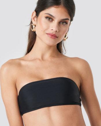 NA-KD Swimwear Bandeau Bikini Top - Black