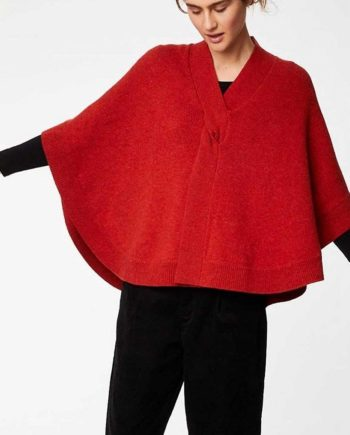 * Organic Wool Knit Poncho - Thought *