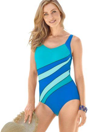 WITT WEIDEN Damen Badeanzug blau Gr. 46