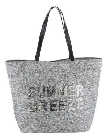 fabrizio® Strandtasche, aus beschichtetem, gewebtem Papiermaterial