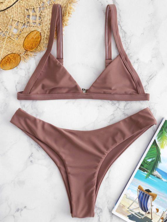 ZAFUL Unlined High Cut Bikini Set