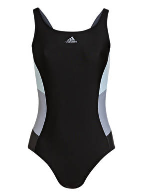 Adidas Badeanzug Colorblock schwarz
