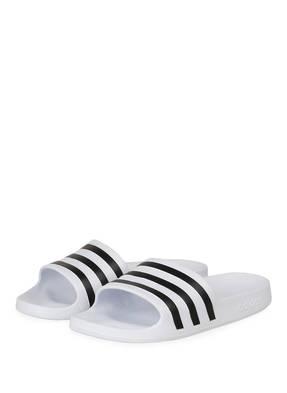 Adidas Badeschuhe Adilette Aqua weiss