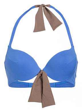 Andres Sarda Push-Up-Bikini-Top Belle blau